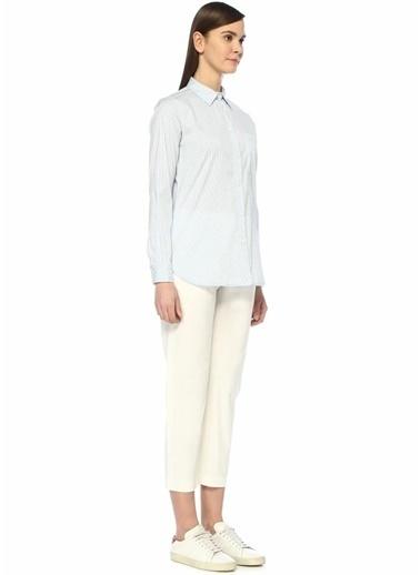 Eleventy Normal Bel Streç Pantolon Beyaz